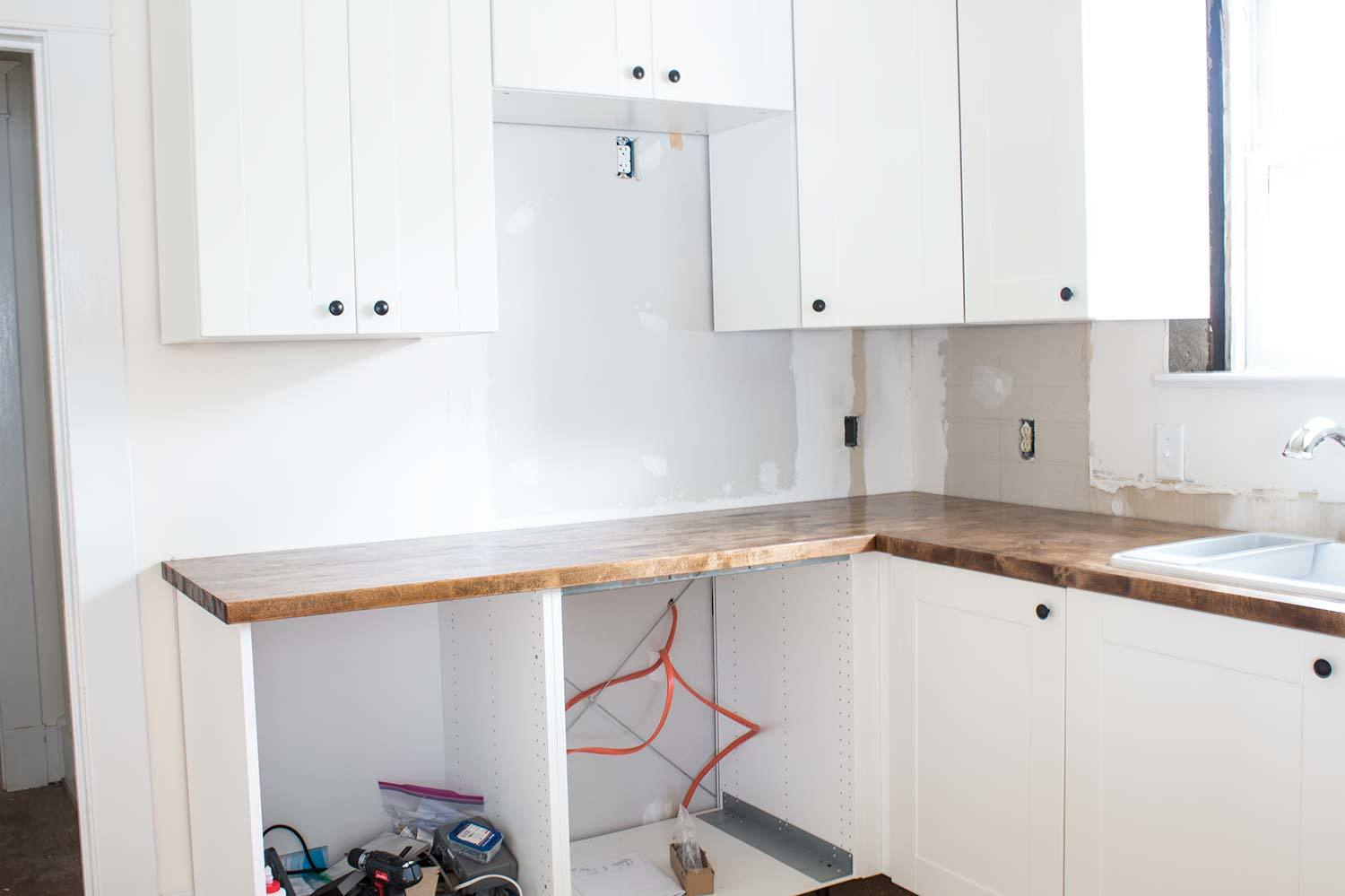 How I Installed My Butcherblock Countertops - A Butterfly House