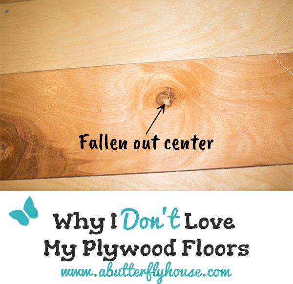 Don't put down DIY plywood floors without reading this! All the good and bad things after two months of plywood floors in my kitchen! #DIY #HomeImprovement #PlywoodFloors #Plywood #AButterflyHouse