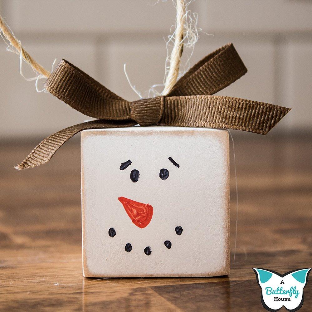 Simple Diy Snowman Ornaments A Butterfly House