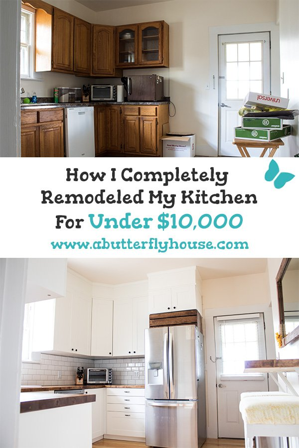 Need To Remodel A Kitchen On Budget See How I Completely Diy Remodeled My