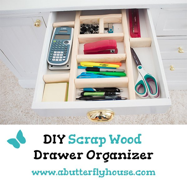 Have some scrap wood sitting around? Customize your storage with these quick and easy DIY scrap wood drawer organizers! #organizers #scrapwoodprojects