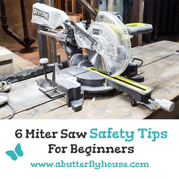Scared of your miter saw? Check out these important miter saw safety tips specifically geared at beginners! #PowerTools