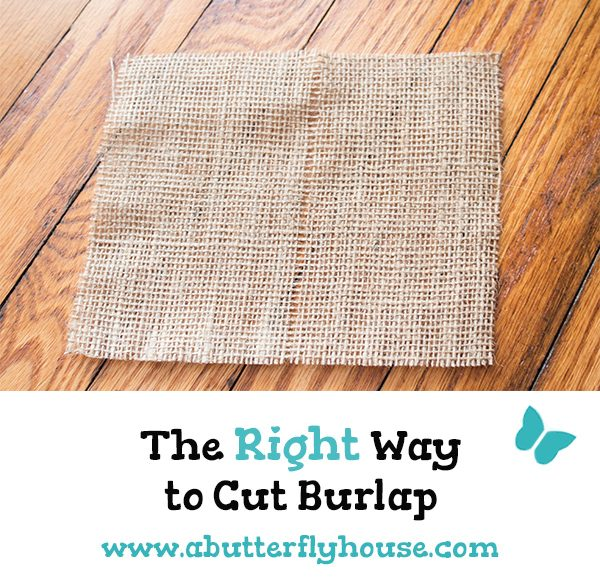 I had no idea there was a secret to cutting burlap until I talked to the cut counter lady... #Burlap