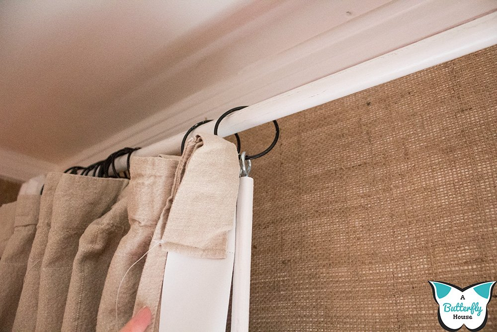 These super cheap DIY Drapery Wands are quick and easy to make, and cost under $5 a pair! #WindowTreatments