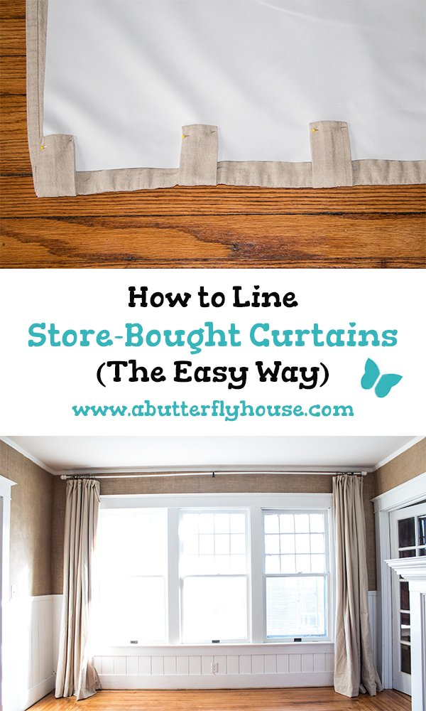 How To Line Curtains.How To Line Store Bought Curtains The Easy Way A