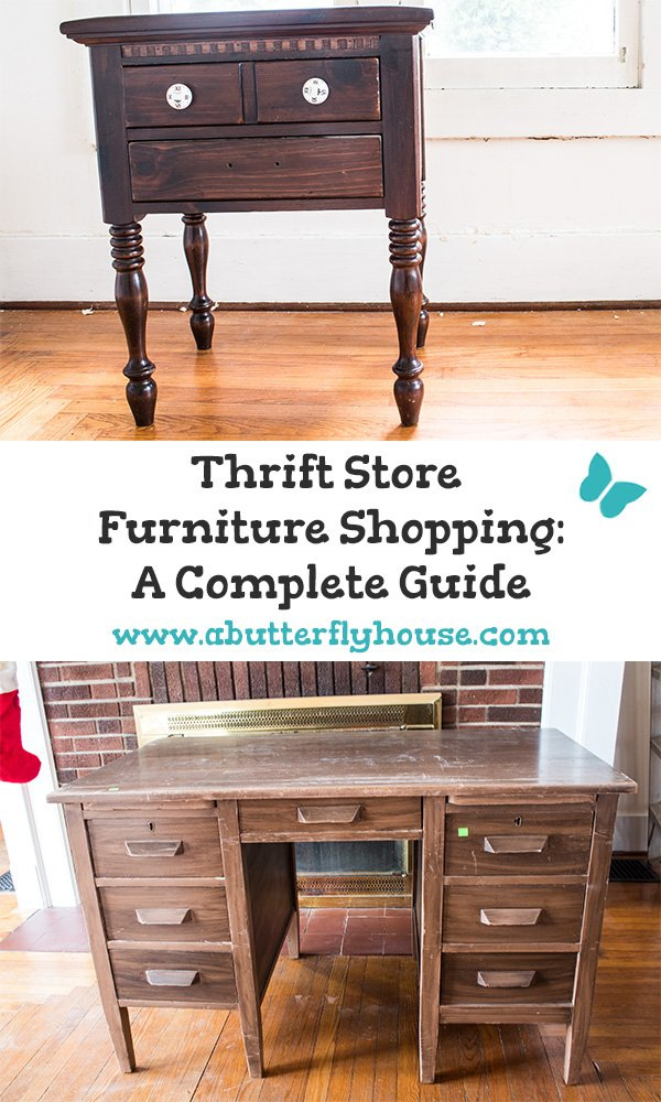 This 5 step guide to buying thrift store furniture will ensure you purchase the perfect piece every time! #ThriftStoreFurniture