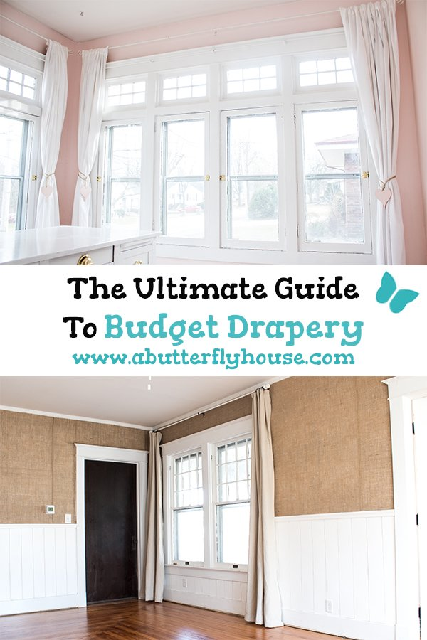 Struggling to find affordable curtains? This Ultimate Guide to Budget Drapery will help you find the budget or DIY curtains perfect for your space!
