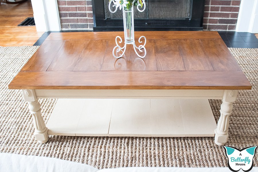 Learn to transform an old laminate coffee table into something modern and functional! #furnitureflip #furnituremakeover