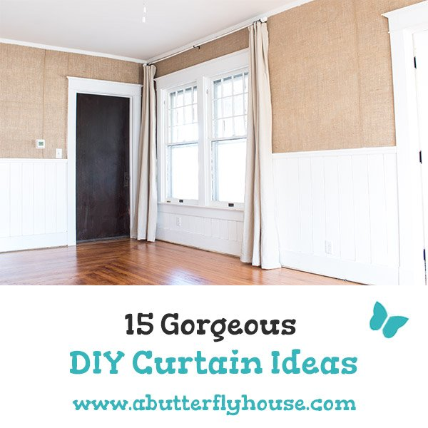 Looking for DIY Curtain Ideas? This article has 15 different easy and beautiful DIY Curtain Ideas for the bedroom, living room, and kitchen! #diycurtains