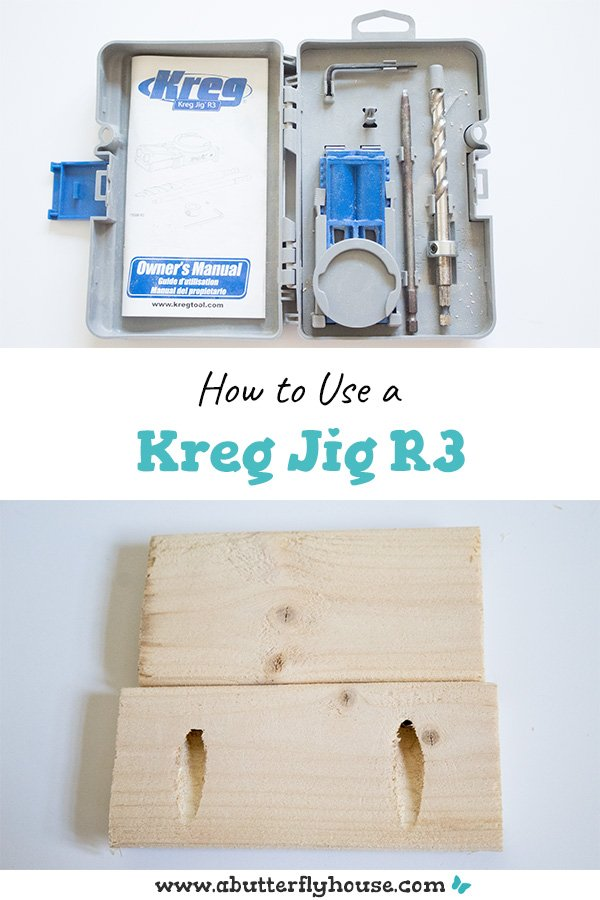 The Kreg Jig R3 is an easy way to add pocket holes to any piece of wood. This straightforward tutorial shows you exactly how to get started! #woodworking