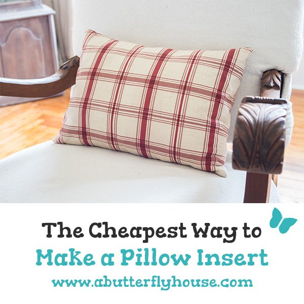 Think throw pillows are expensive? Make your own with these easy and cheap DIY Pillow Inserts! #DIYDecor