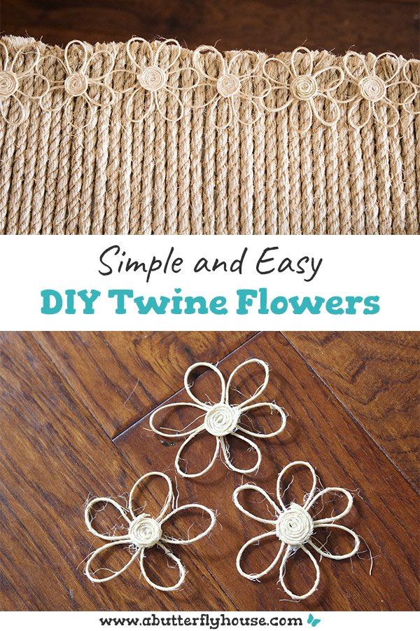 How to Make Easy DIY Twine Flowers - A Butterfly House