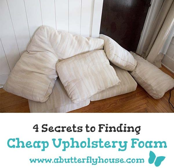 Buying upholstery foam new is so expensive. Check out this guide for finding cheap upholstery foam for your DIY projects. #Sewing