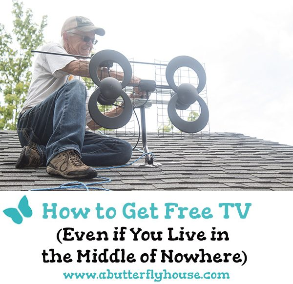 Looking to cut the cable? Check out this easy way to install an antenna and get free live TV, even if you live in the middle of nowhere! #homeimprovement