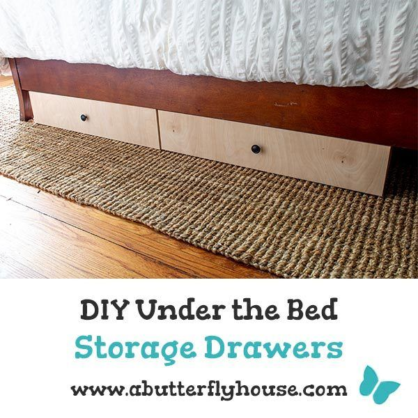 Come see how to build a DIY Dresser under the bed! These under the bed storage drawers are easy to use, and only cost $30 a piece! #woodworking #storage