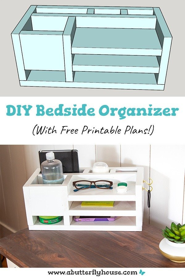 DIY Home Decor Projects - Bedside or Desk organizer