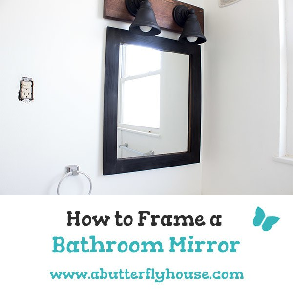 Learn how to frame a mirror - even one with clips - in this detailed tutorial! Easy and affordable method shows you exactly how to frame the bathroom mirror. #DIY #HomeImprovemet
