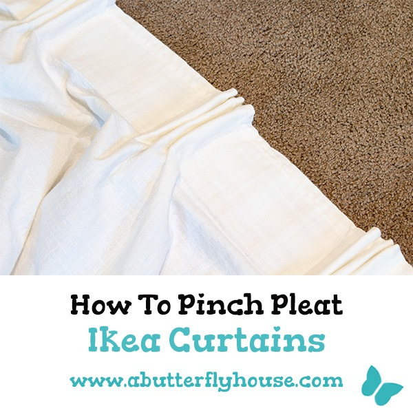 Learn how to pinch-pleat Ikea Curtains. Super easy and budget-friendly way to upgrade your ikea curtains to the next level. Easy DIY window treatment! #diy #diydecor