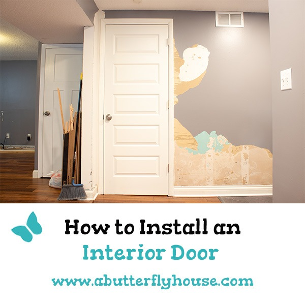 Learn how to install an interior door the easy way! A pre-hung door along with an EZ Hang installation kit makes this project a breeze!