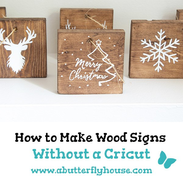 Learn how to make wood signs without a cricut with these easy DIY Rustic Ornaments. The perfect addition to your Christmas tree, these diy ornaments are easy to make and are the perfect way to use up scrap wood!