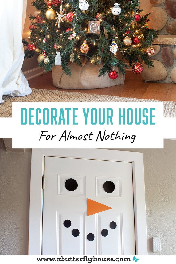 Decorate your whole home for Christmas for under $20! Easy and cheap diy projects and crafts are perfect for getting your house decorated for the holidays! Everything easy and budget-friendly! #christmas #budgetdecor