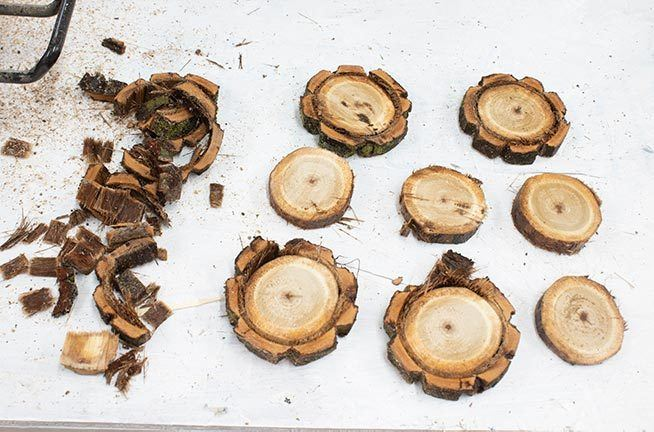 Wood slices are the perfect thing for holiday decor! Learn how to cut and dry them out with this quick and easy method!