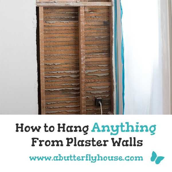 Frustrated by plaster walls? Learn how to hang anything on plaster walls the easy way! #plasterwalls #homeimprovement