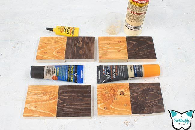 Wood fillers claim to be stainable... but are they actually? I tested four wood fillers with two different stains to see how they stained - come find out the results! #woodworking