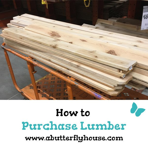 Learn everything you need to know to successfully purchase wood from the home improvement store! Know exactly how to buy lumber with this complete guide! #woodworking #lumber