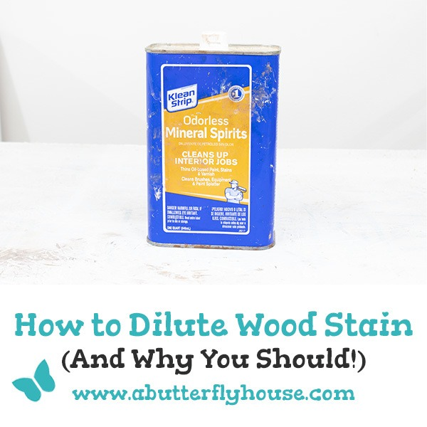 Diluting wood stain is easy to do and is a great way to save money or lighten your stain of choice! #woodworking