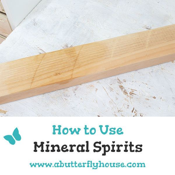Mineral spirits are a fantastic tool both for the general homeowner and the woodworker! Come learn how to use mineral spirits the right way! #woodworking