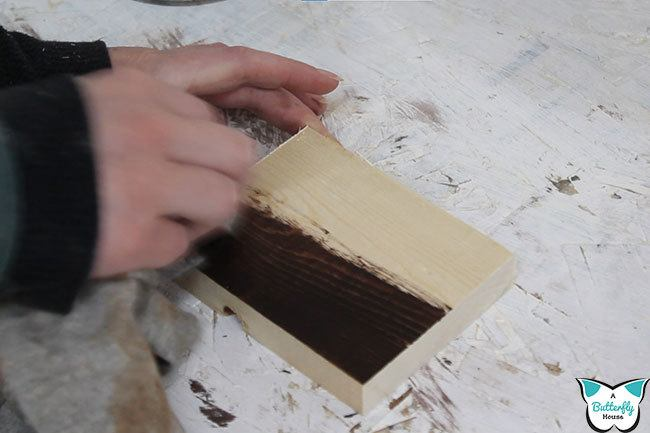 Staining wood can be nerve-wracking the very first time. Come learn everything you need to know about how to stain woods, especially if you're staining softwoods that don't stain well! #woodworking