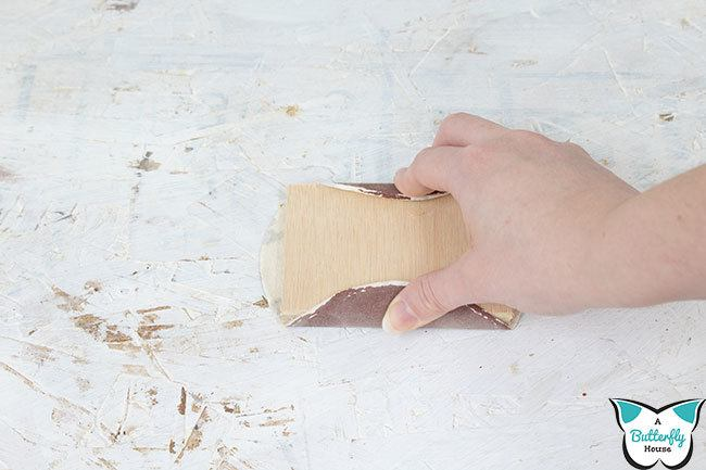 Learn how to sand wood the right way! All your wood sanding questions answered for every situation - bare wood, before paint, before stain, and even between coats of finish! #woodworking