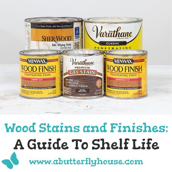 Wood stains and finishes can go bad! Manufacturers provide a shelf life, but there are a couple of other secrets for figuring out if your wood stain and wood finishes are still good to use! #woodworking