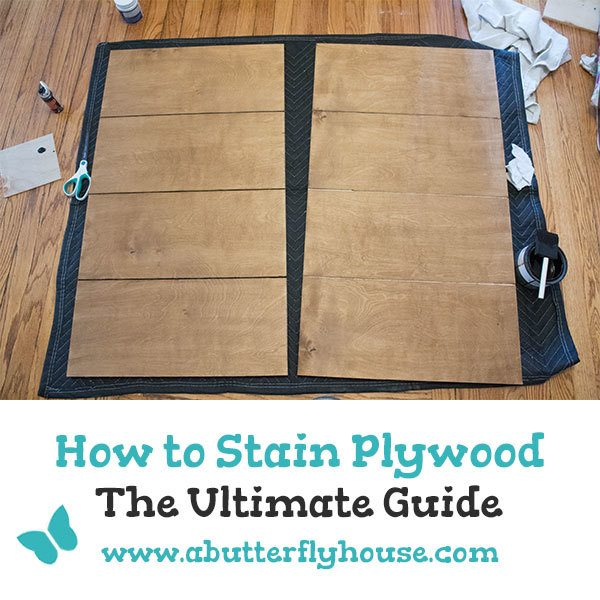 Learn everything you need to know about staining plywood in this ultimate guide! #woodworking