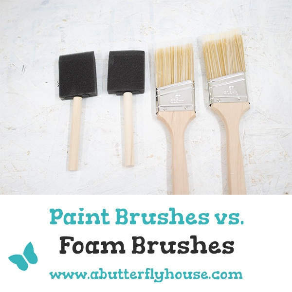 Foam brushes and bristle paint brushes are both awesome tools. But when do you use which? Wood finishes, stains, mod podge, paint stripper, and more are all discussed!