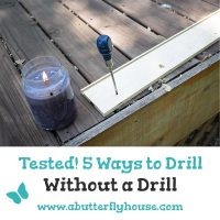 Don't have a drill? Check out these 5 tested ways to drill a hole without a drill. All are simple and easy!